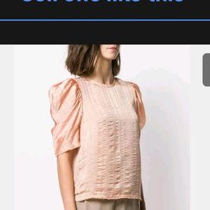 Ulla Johnson Pink Silk Blend Blouse